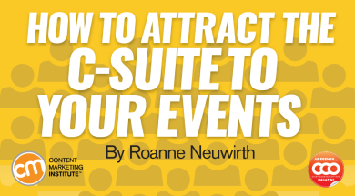 How to Attract the C-Suite to Your Events