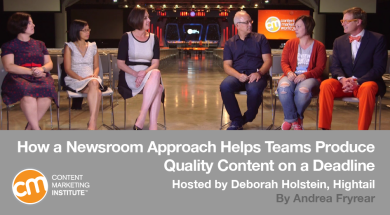 How a Newsroom Approach Helps Teams Produce Quality Content on a Deadline
