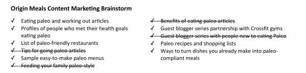 Origin-meals-brainstorm-target-audience