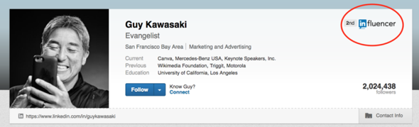 influencer example linkedin