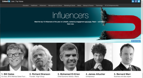 top 10 influencers example