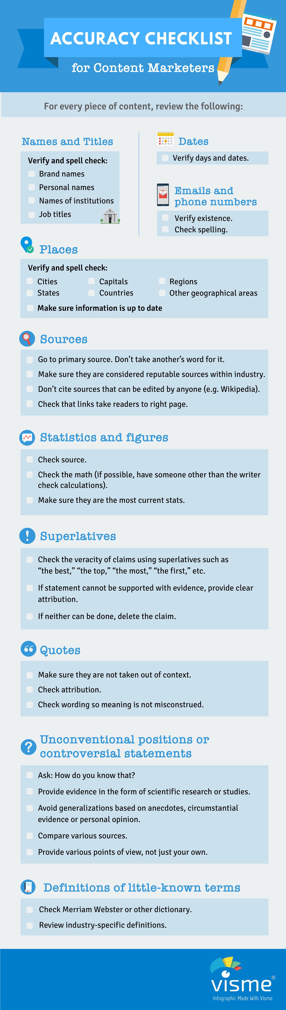 Accuract Checklist for Content Marketers