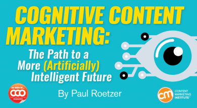 Cognitive content marketing artificially intelligent future cognitive content marketing the path to a more artificially intelligent future malvernweather Image collections