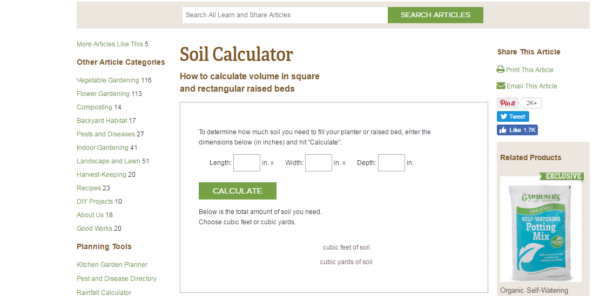 Soil-calculator