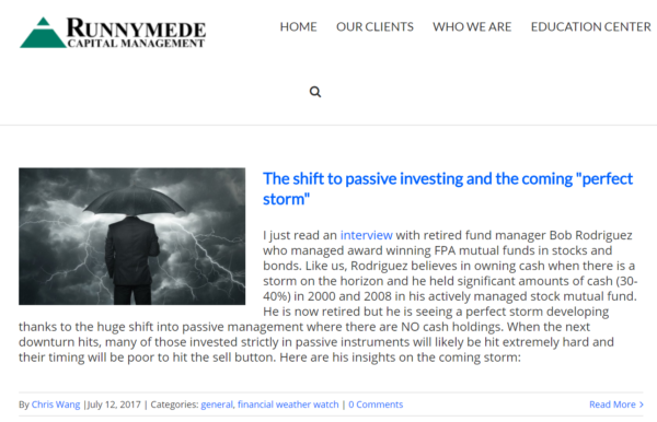 Runnymede Investment Firm Blog