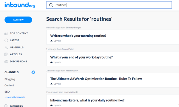 search-results-routines
