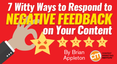 negative feedback on content how to react