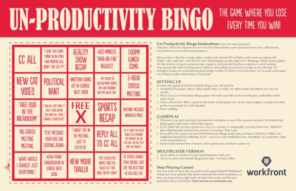 unproductivity-bingo