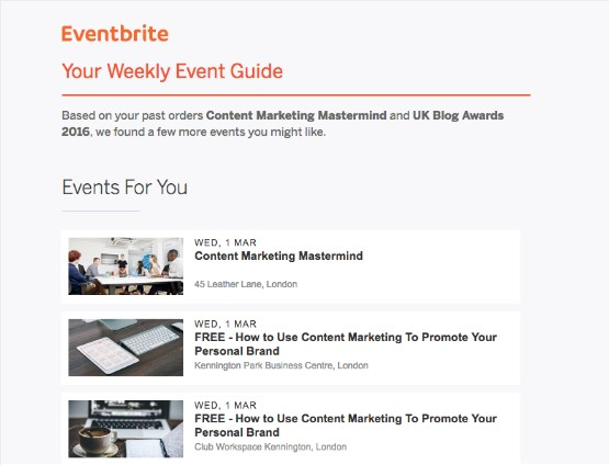 Eventbrite-newsletter