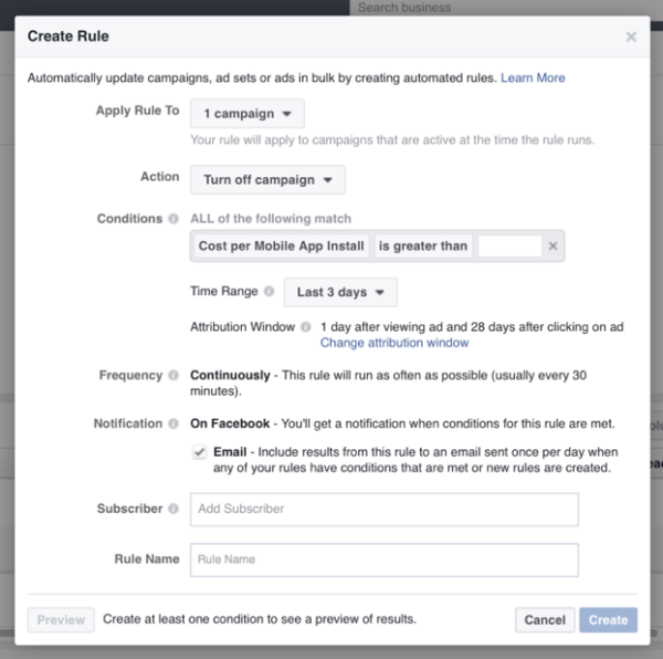 create-facebook-automated-rule