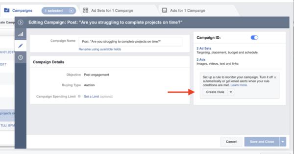 facebook-automated-rule