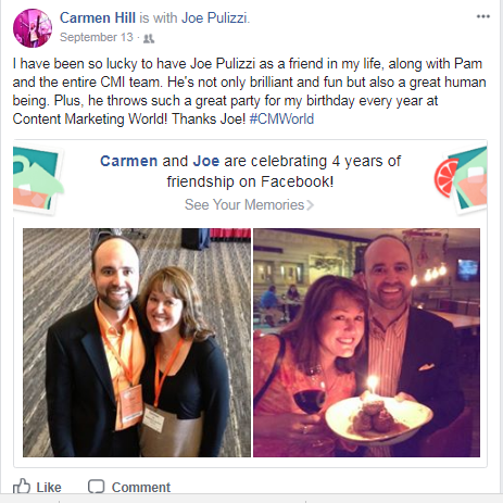 joe-pulizzi-carmen-hill-content-marketing-world-birthday