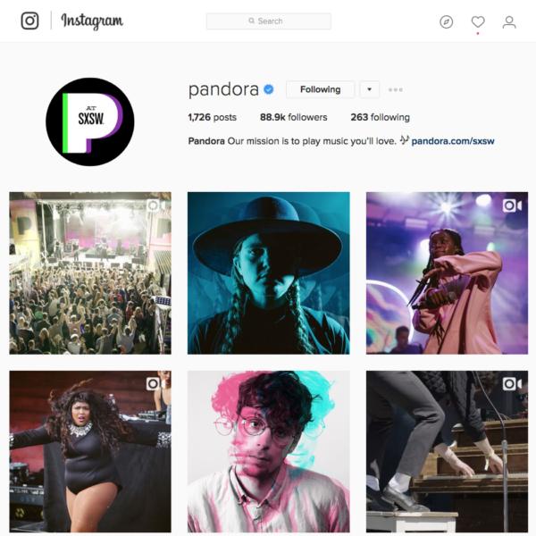 pandora-instagram