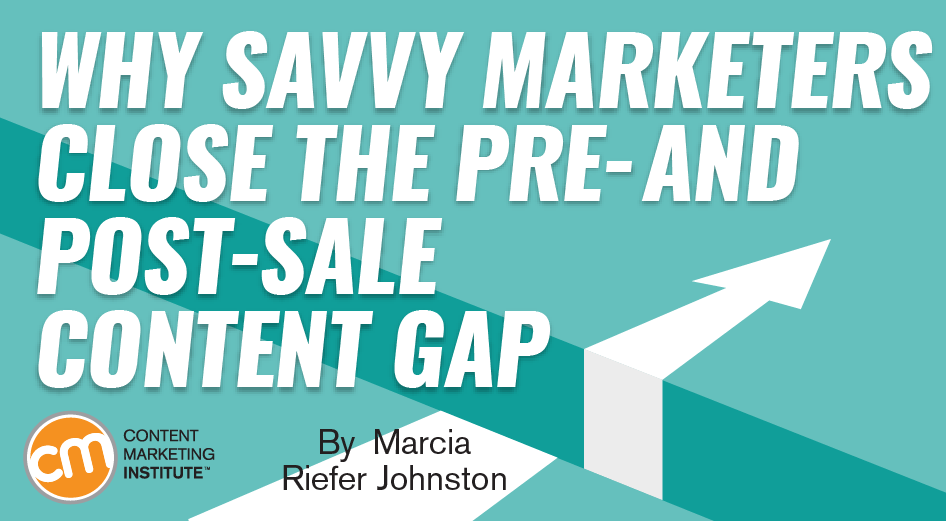 contentmarketinginstitute.com - Why Savvy Marketers Close the Pre- and Post-Sale Content Gap