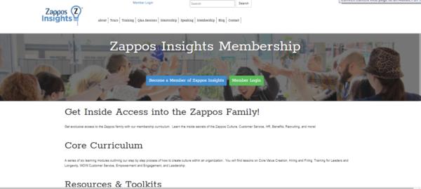 zappos-insights-membership-example