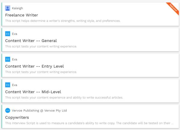 Content Creators: Tools for Hiring