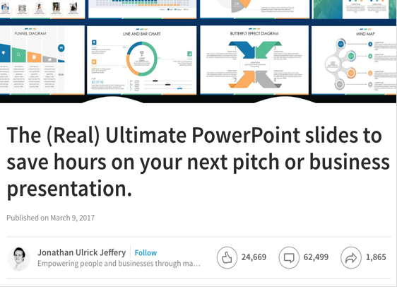 24Slides requires to comment or share its LinkedIn post in exchange for a download link to ensure the campaign has maximum reach.