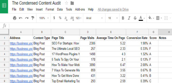 condensed-content-audit-inventory-example