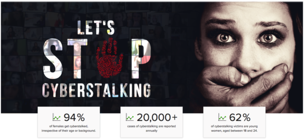 PureVPN used stunning imagery to evoke emotion and engagement around the topic of cyberstalking.