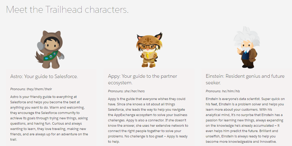 Salesforce Trailhead Character Astro