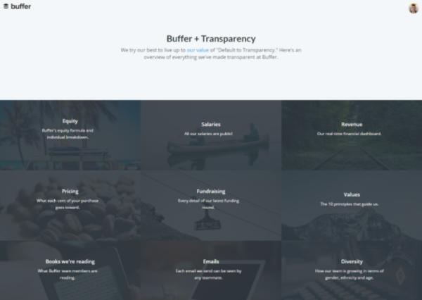 An image showing Buffer's website.