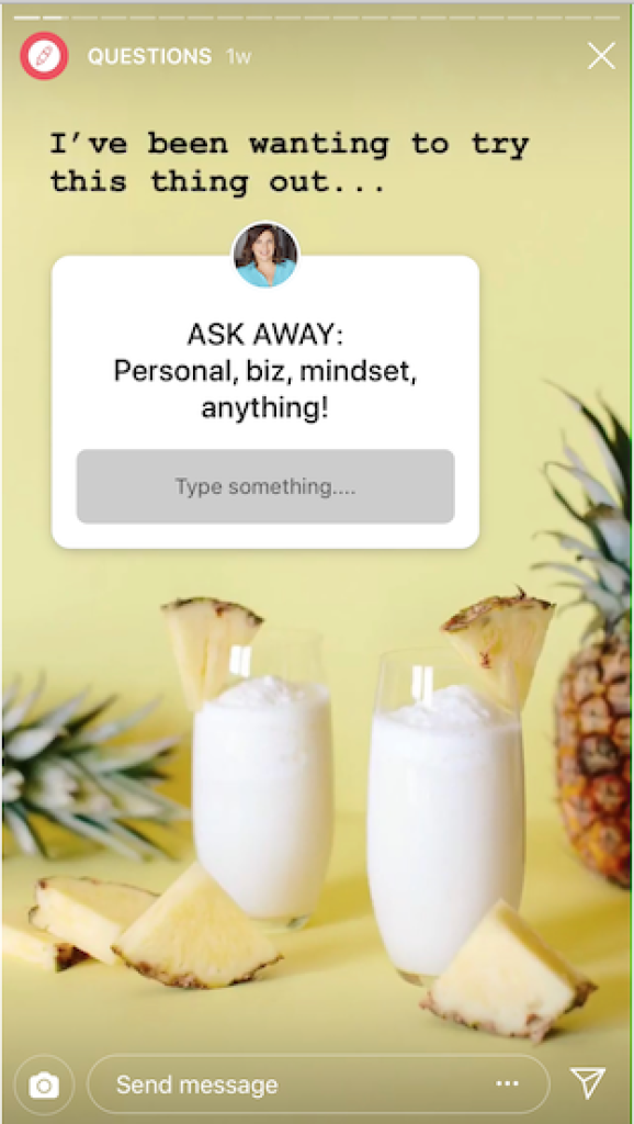 An image showing the Ask Me A Question' feature.