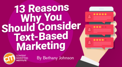 13 Reasons Why You Should Consider Text-Based Marketing