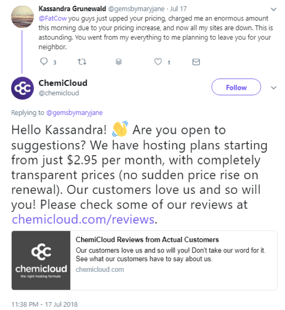 ChemiCloud stealing FatCow users