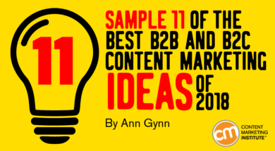 Sample 11 of the Best B2B and B2C Content Marketing Ideas of