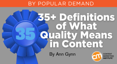 Quality Content: How to Define What It Means