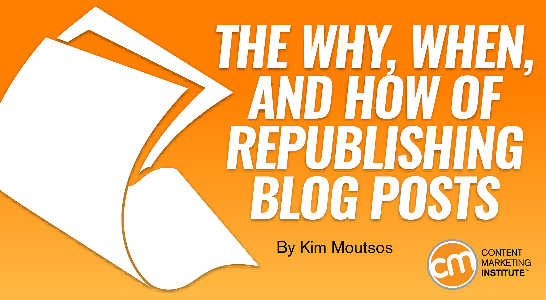 The Why, When, and How of Republishing Blog Posts