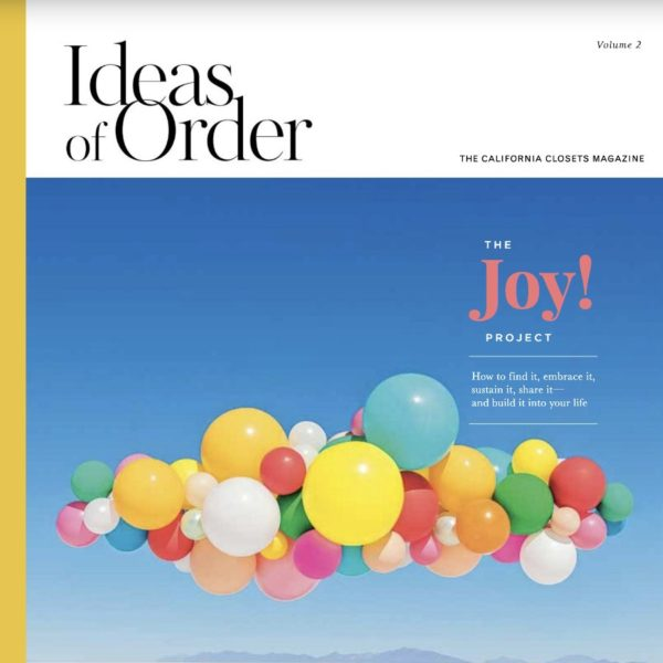 Compilation of various pages from Ideas of Order magazine, published by California Closets.