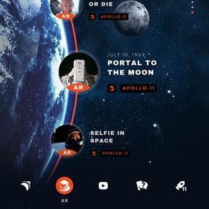 Smithsonian augmented reality app screen shot