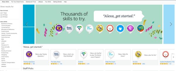 amazon alexa skills screenshot