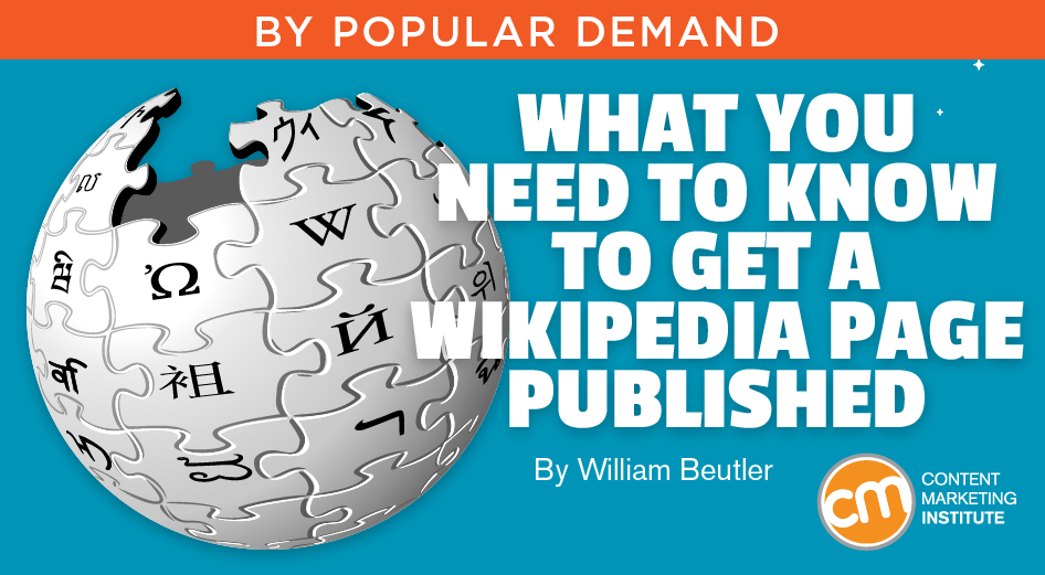 Wikipedia Article How To Get It Published