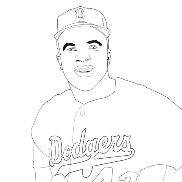 Image showing a Jackie Robinson printable.