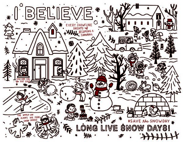 An image of Campbell Soup's Long Live Snow Days! downloadable printable for kids.