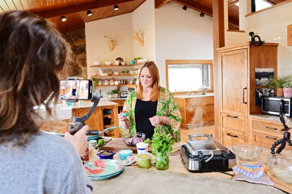 Image showing Ree Drummond from The Food Network as she shares some great fast recipes at home on the ranch while the kids shoot the show.