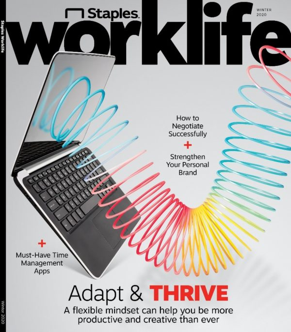 Image showing the cover of Staple's Worklife magazine.