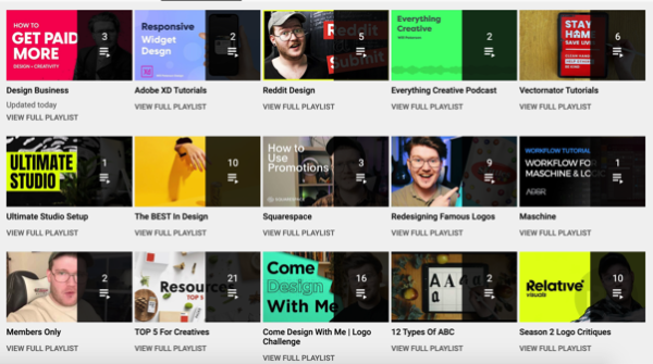 An image showing Will Paterson's YouTube playlist.